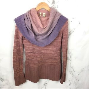 Moth By Anthropologie Ombre Cowl Neck Sweater